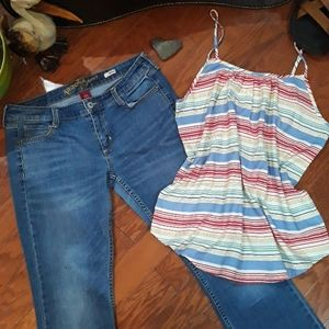 Size 11 Jeans AND a Large Tank Top!